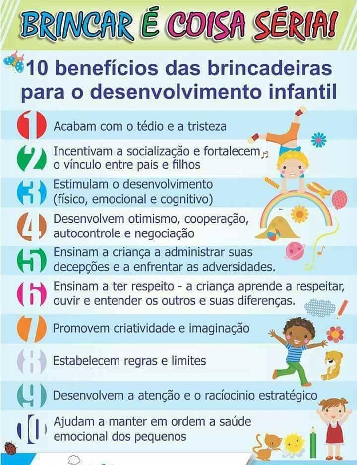 10 Benefícios das brincadeiras para o desenvolvimento Infantil