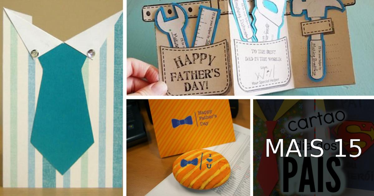 19 Ideias de cartões para o Dia dos Pais