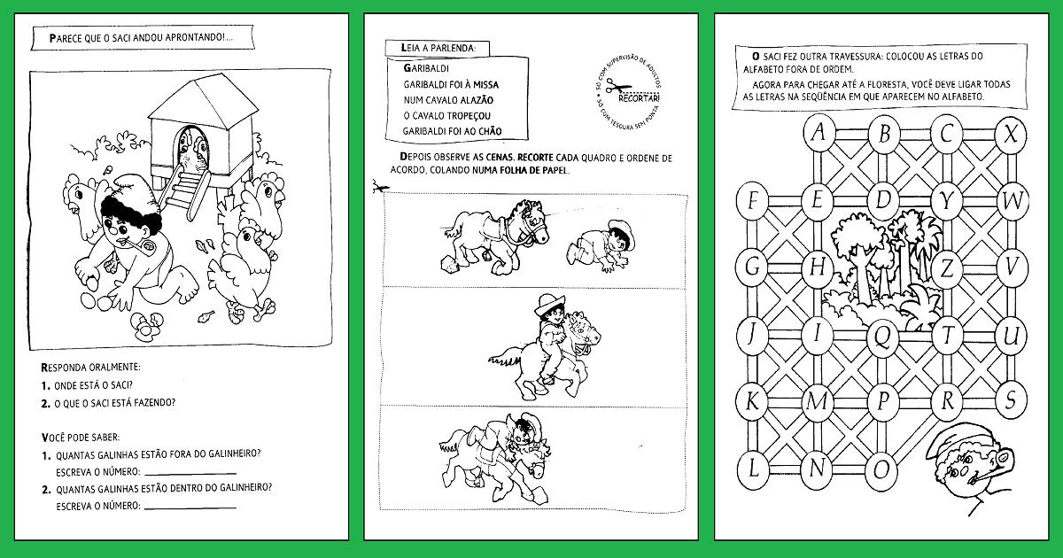Atividades sobre Folclore para Educação Infantil