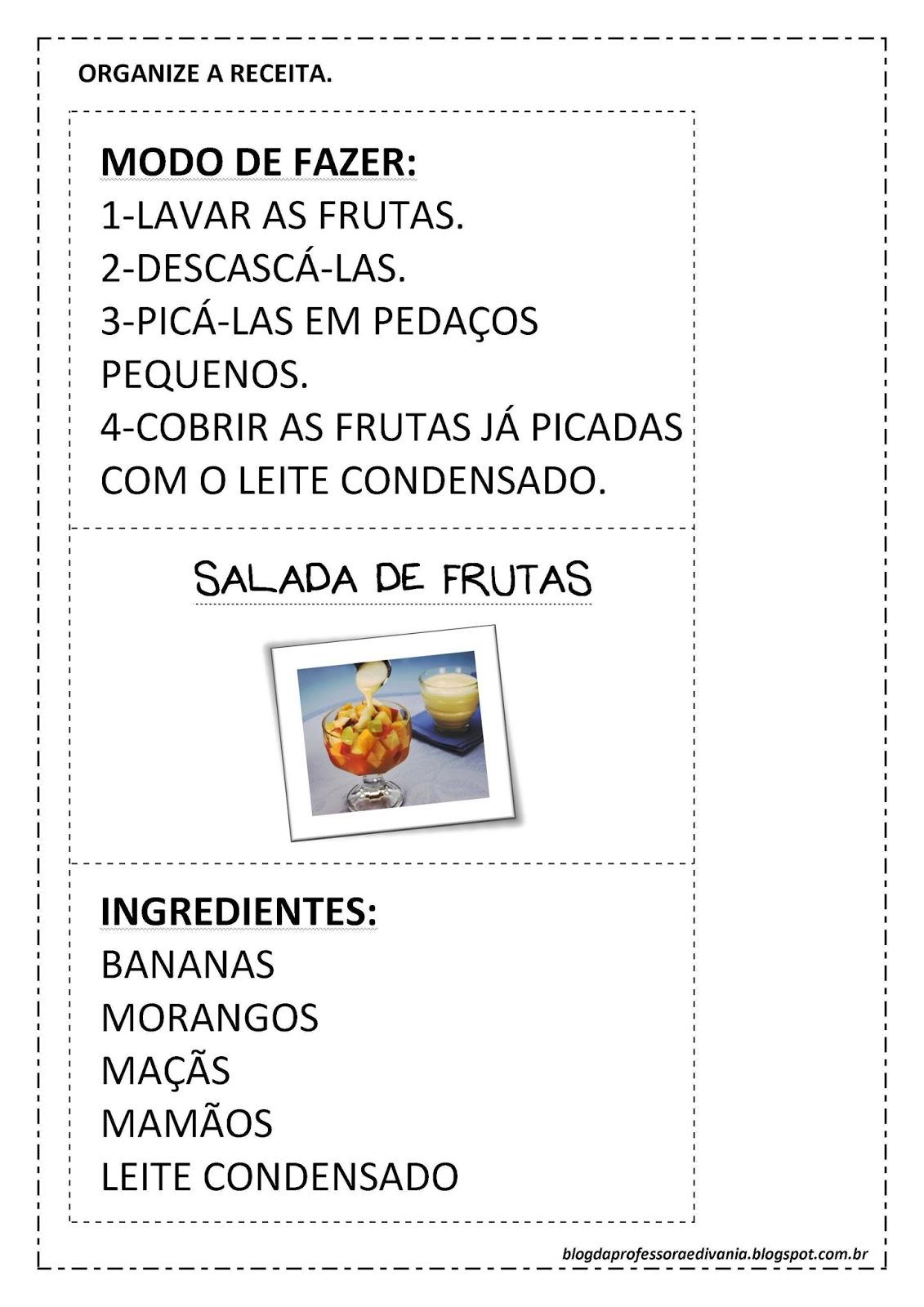 Top Atividades Educativas de Português com Gênero Textual Salada de Fruta HL81