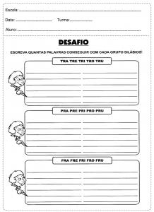 Atividades Variadas de Português, educativas para 3º ano prontas para imprimir.