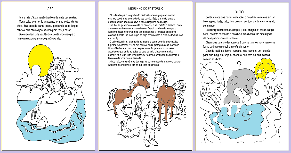 Textos para Imprimir: Lendas e mitos do Folclore brasileiro