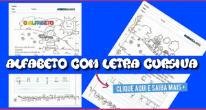 Alfabeto com Letra Cursiva - Atividades para imprimir - Escrita do Alfabeto