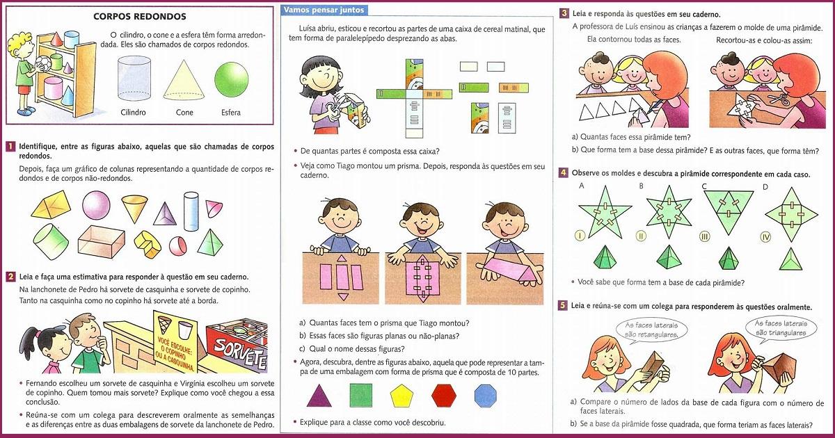 Atividades de Matemática de Geometria para o 4° ano
