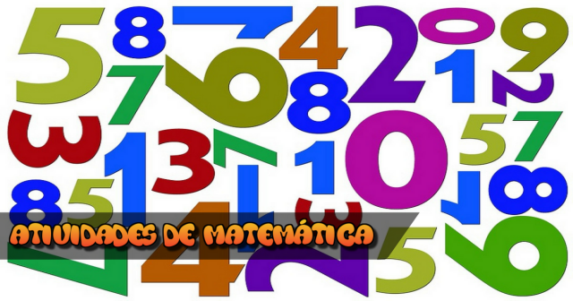 Atividades de Matemática para terceiro ano