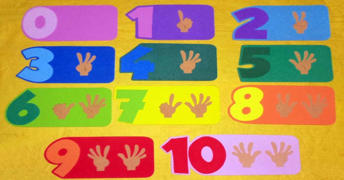 Atividades sobre Numerais 1 a 10 para Educação Infantil