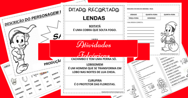 Atividades Folclóricas para imprimir com Parlendas, Trava-Língua e mais