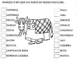 Atividades Variadas sobre Folclore - Alfabetização com Folclore