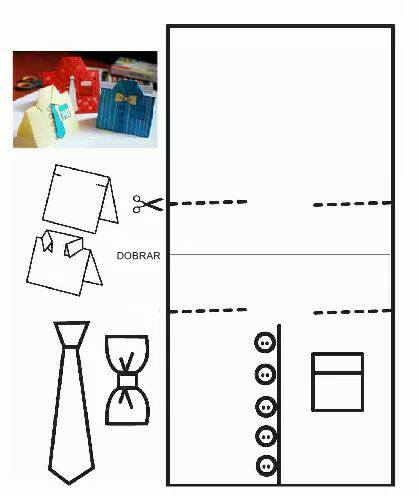 Caixa e Camiseta para o Dia dos Pais: Moldes para Imprimir