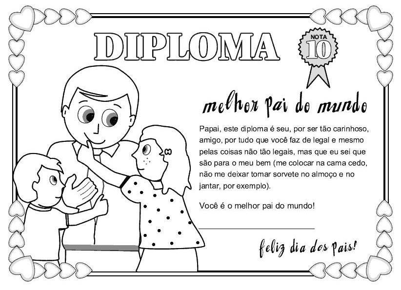 Cartoes Para O Dia Dos Pais Modelos Para Imprimir E Colorir