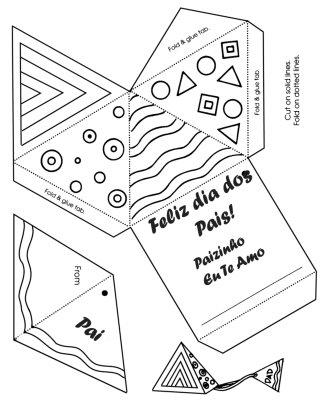 Cartões para o Dia dos Pais: Modelos para imprimir e colorir