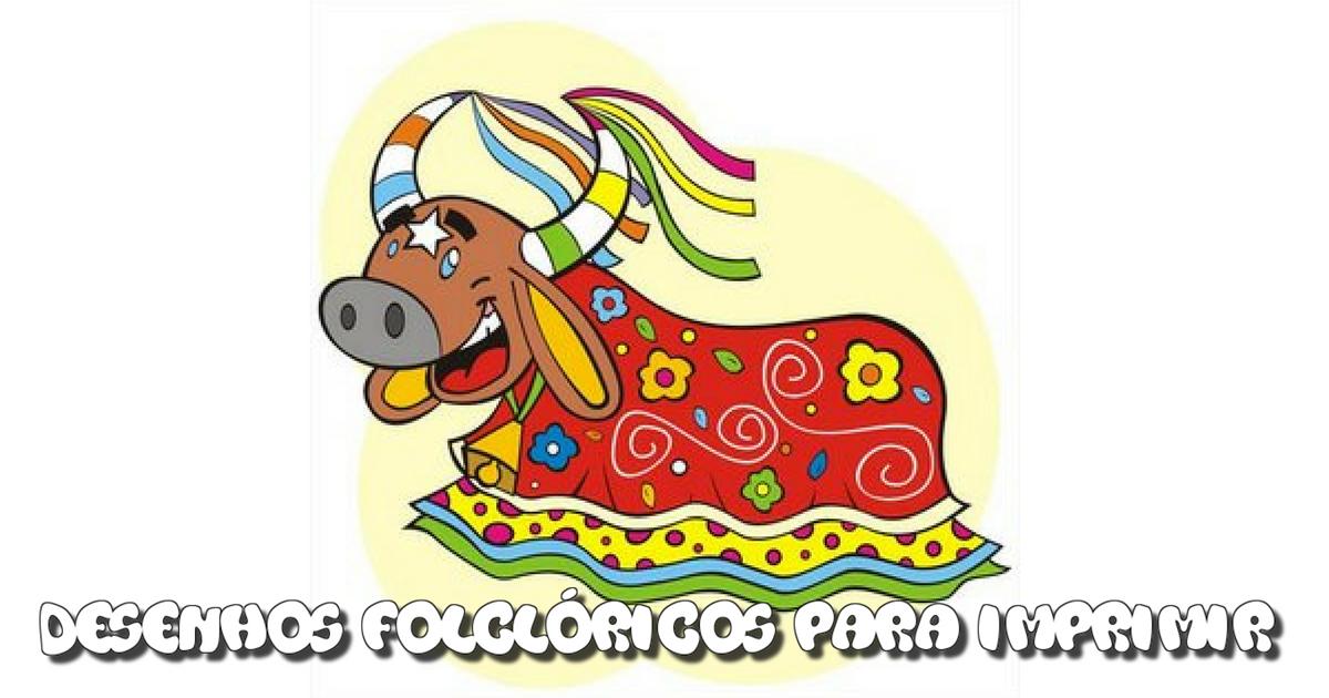 Desenhos Folclóricos para imprimir do Bumba meu Boi.