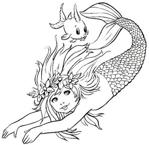 Desenhos do Folclore brasileiro para imprimir e colorir: Iara