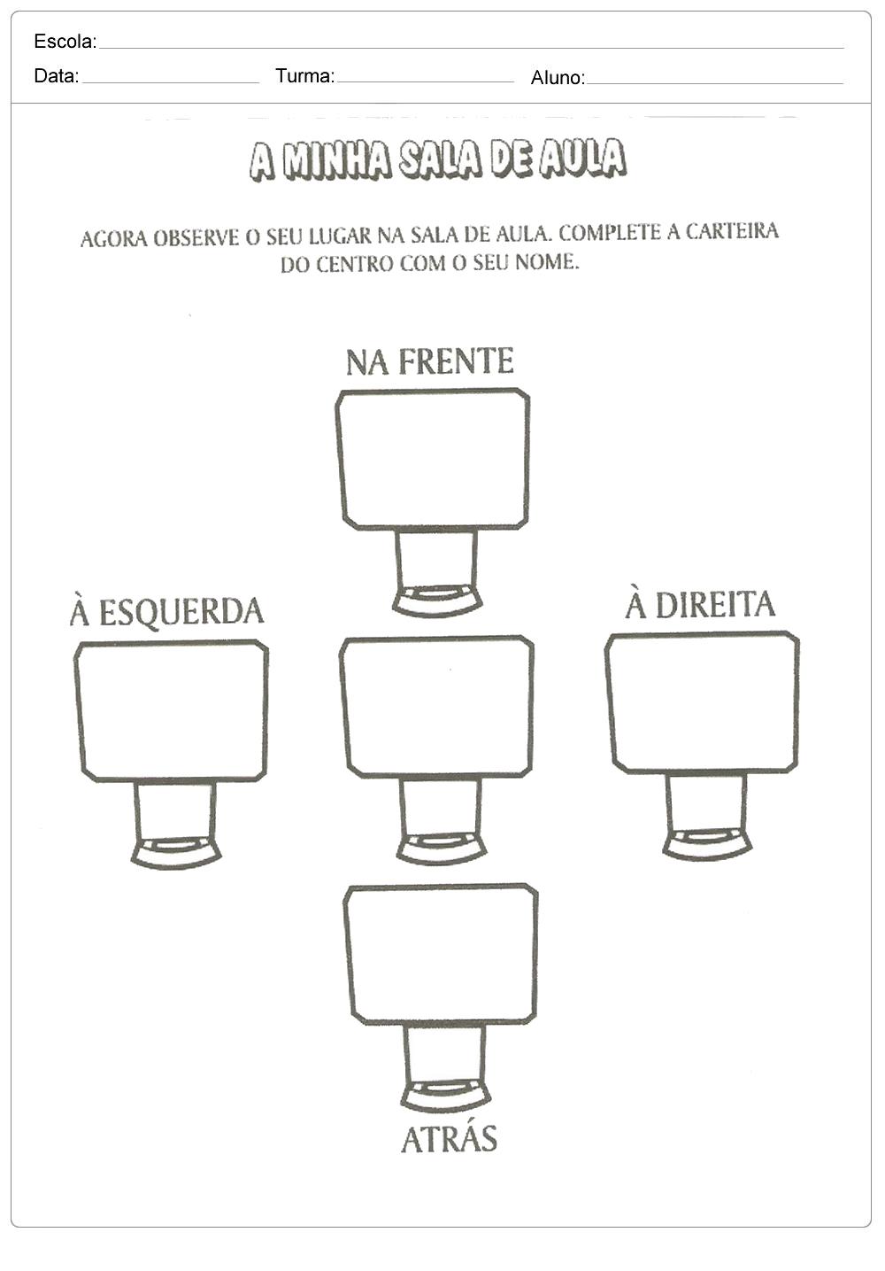 Atividades de Lateralidade: Direita e Esquerda prontas para imprimir