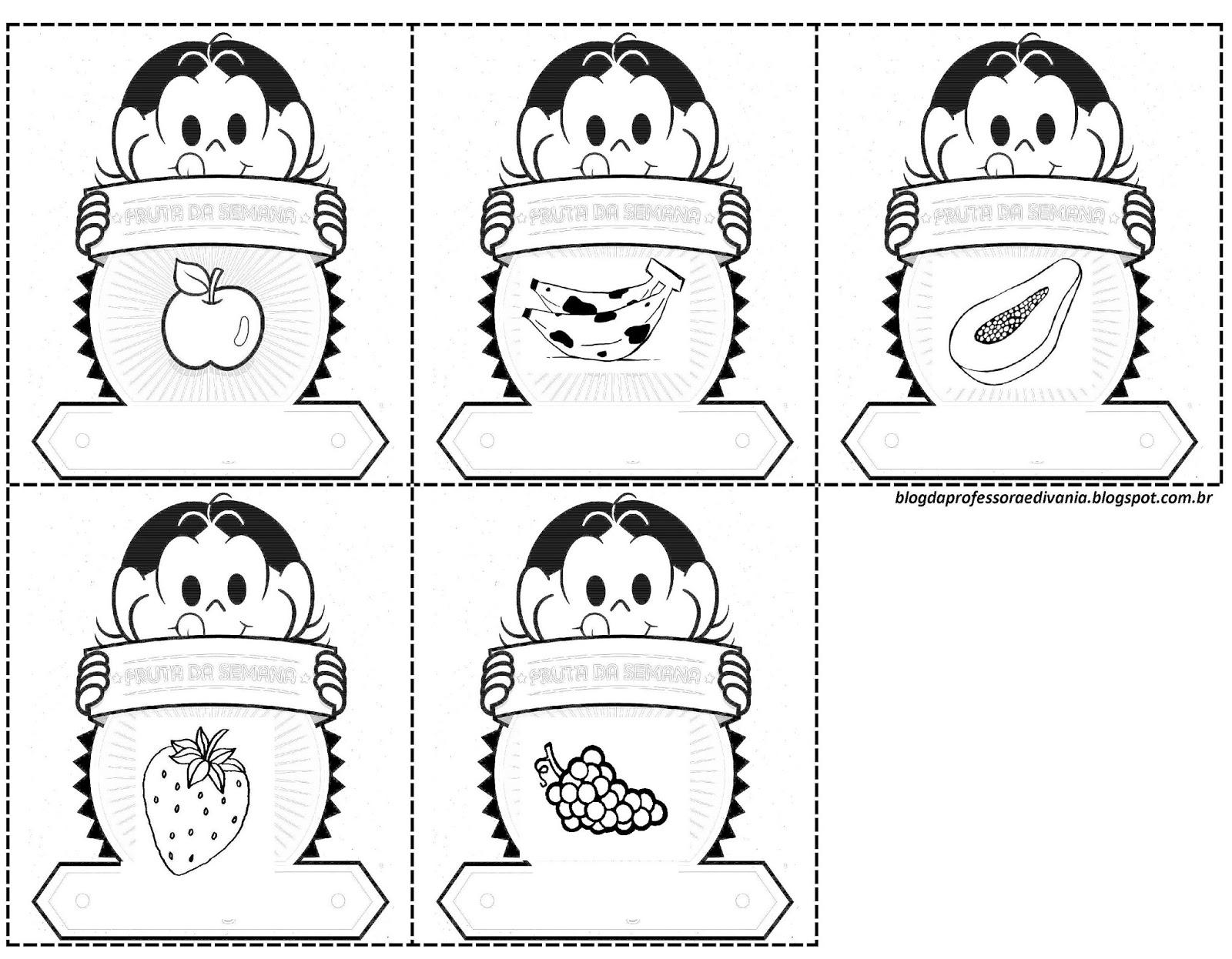 Ditado Recortado sobre Alimentação Saudável - Para Imprimir e Colorir
