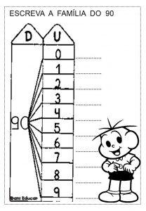 Fichas das famílias numéricas das dezenas para imprimir