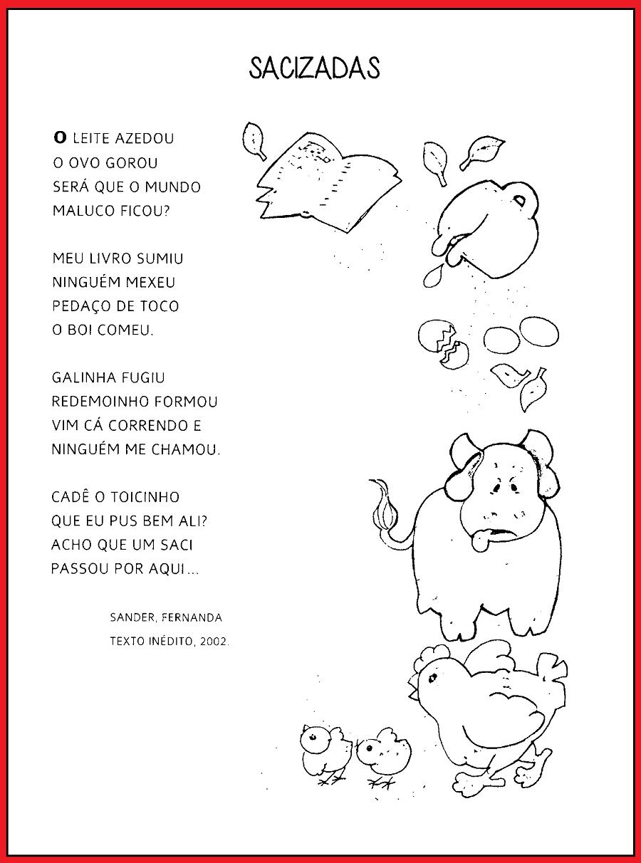 Poemas sobre Folclore prontos para imprimir: Saci