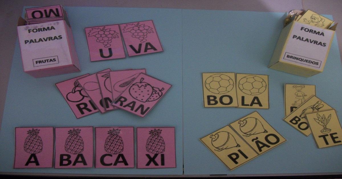 Forma Palavras: Jogo Pedagógico para alfabetização.