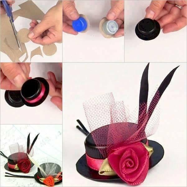 Ideias de Artes e Atividades com tampinhas