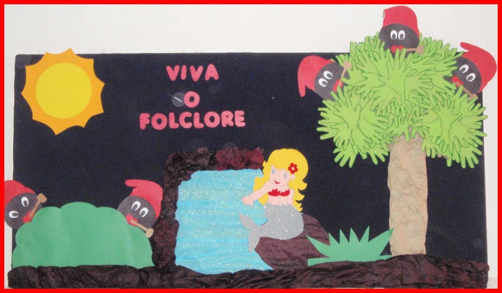 Painel Dia Do Folclore: Ideias-e-sugestoes-de-paineis-e-murais-para-o-dia-do
