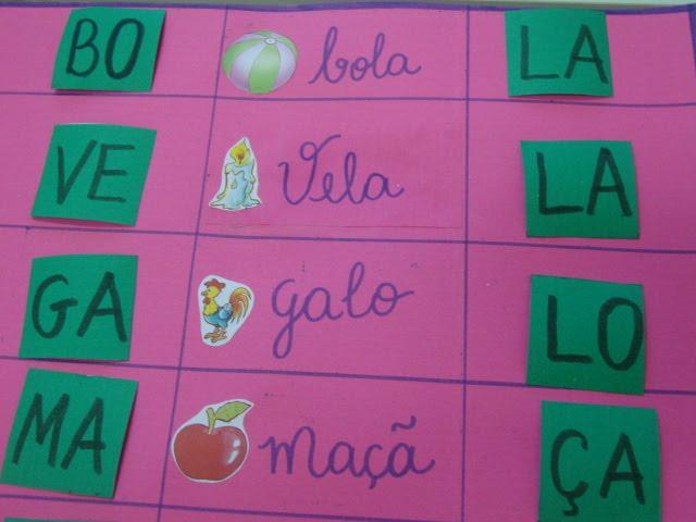 Identifique a Sílaba inicial e final da palavra: Jogo Pedagógico