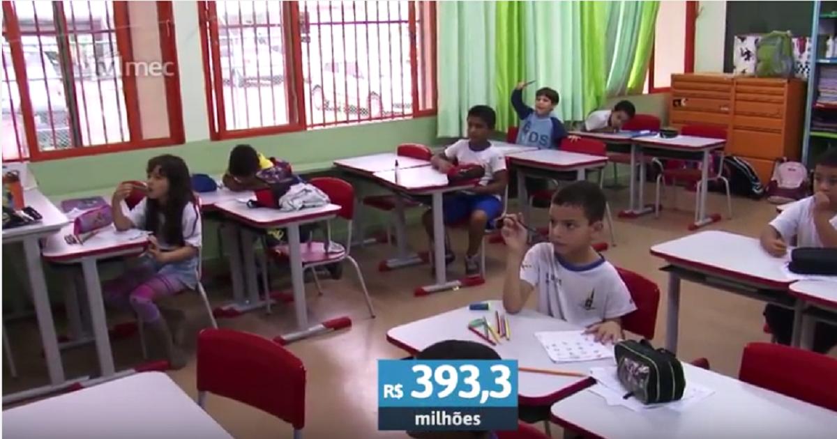 MEC destina R$ 393,3 milhões a programas de educação básica