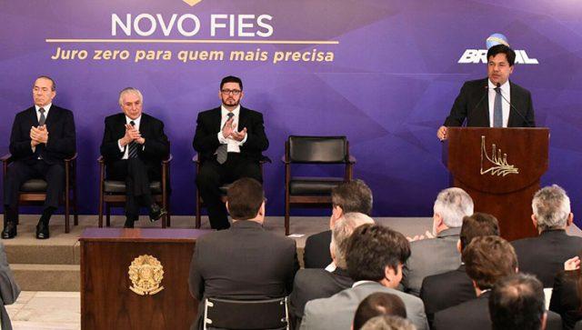 Fies começa em 2018, com três modalidades e 100 mil vagas a juros zero
