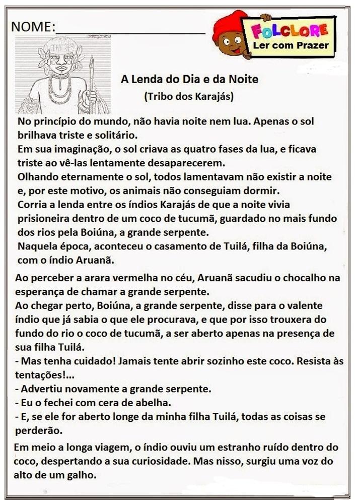 Projeto resgatando culturas com o Folclore Brasileiro: Texto Complementar