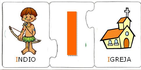 Jogo lúdico - Quebra-Cabeça das vogais para imprimir