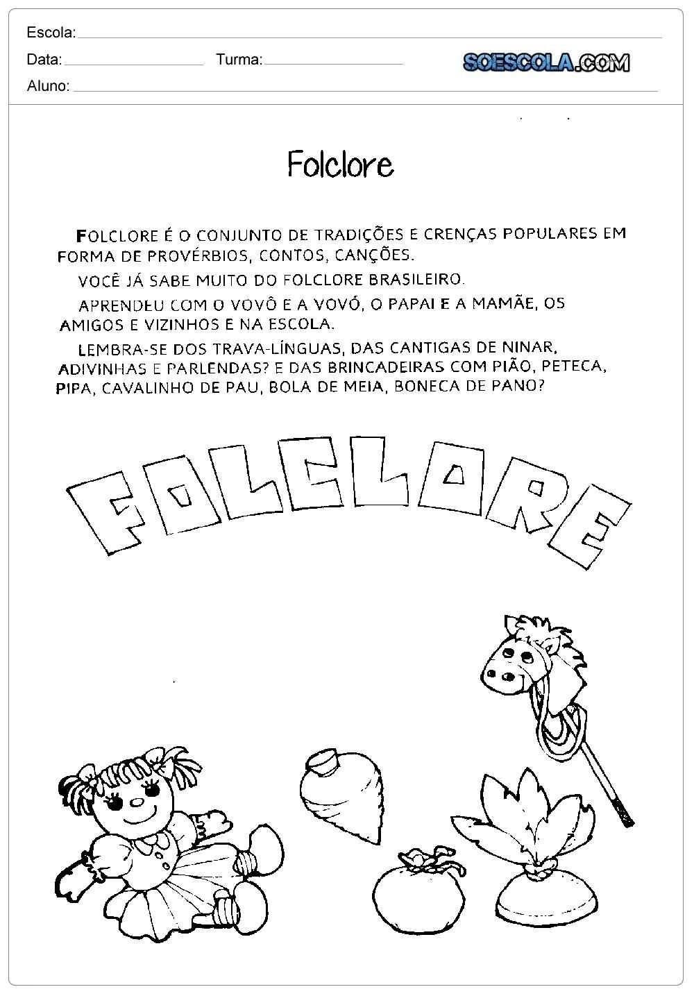Texto sobre o que é Folclore
