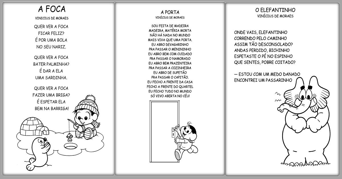 Textos prontos para imprimir para trabalhar leitura