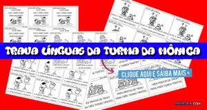 Trava Línguas da Turma da Mônica - Cartinhas para leitura