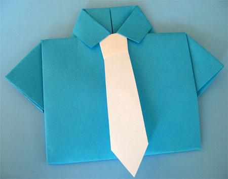 lembrancinha para o Dia dos Pais camisa Dobradura passo a passo.