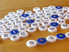 Sugestão de Jogo de Matemática com tampinhas de garrafa