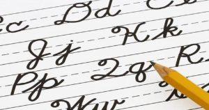 A letra cursiva em novos tempos