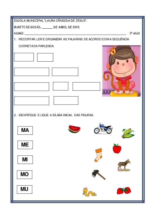 Atividades com Parlendas: O macaco foi à feira e Macaca Sofia.