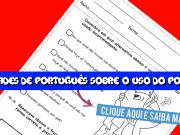 Atividades de Português sobre o uso do porque.