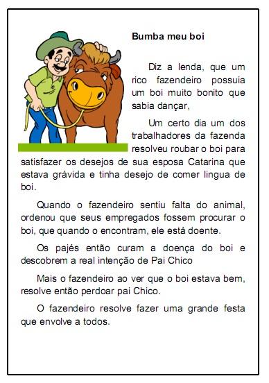 Lendas do folclore brasileiro para imprimir
