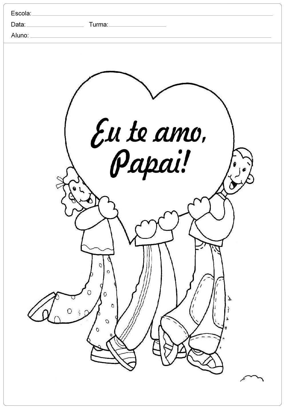 Desenhos Para Colorir E Imprimir Para Dia Dos Pais