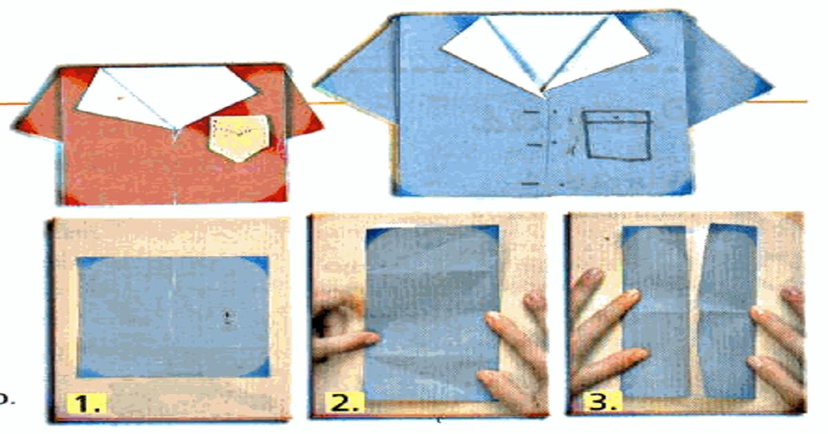 Dobradura de Camisa (origami): Lembrancinhas para o Dia dos Pais