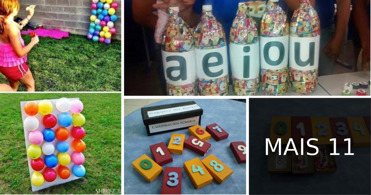 Sugestões e Ideias de Jogos Educativos Infantis