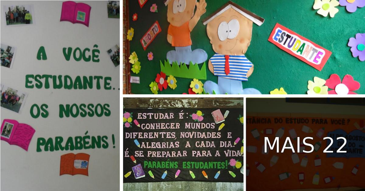 Ideias De Murais Para O Dia Do Estudante 11 De Agosto So Escola