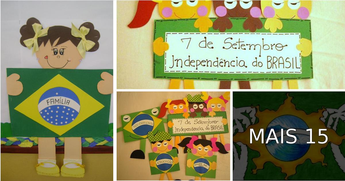 Ideias de painéis para o Dia da Independência do Brasil.