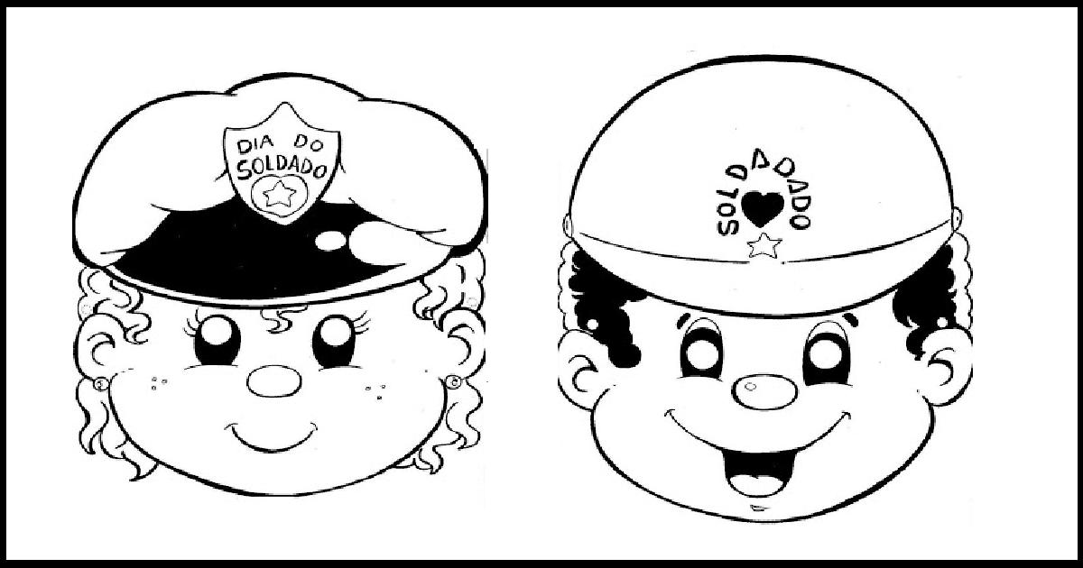Máscaras para o Dia do Soldado para imprimir