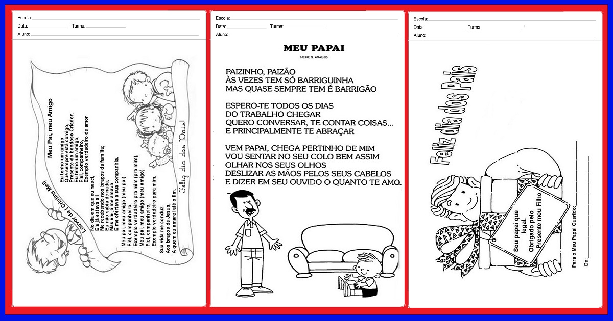 Mensagens do dia dos pais para imprimir