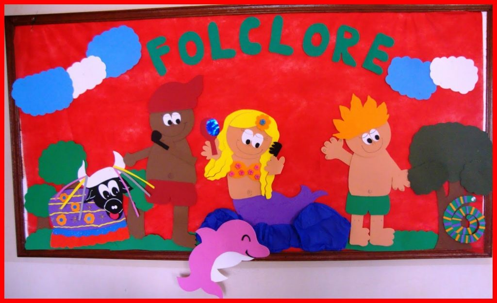 Atividade folclore maternal para imprimir e colorir -