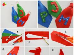 Porta chaves de feltro com a inicial do nome do pai: Dia dos Pais