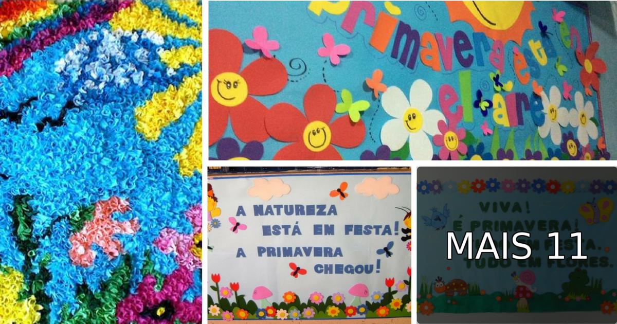 15 Ideias De Murais E Painéis Para A Primavera Só Escola