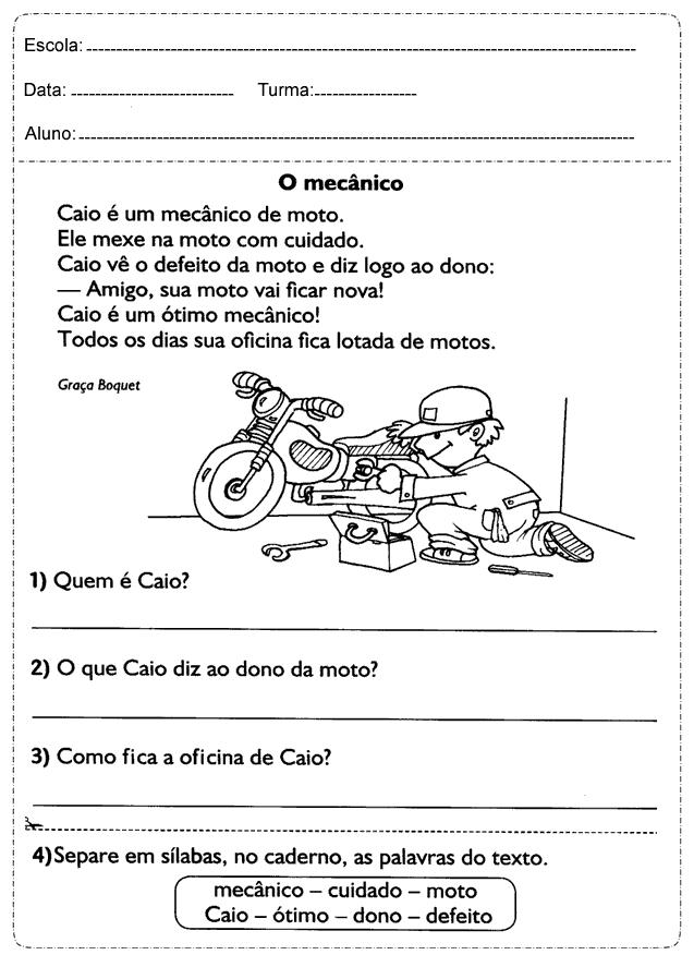 Famosos Atividades de Português para Ensino Fundamental - Para Imprimir. HV11