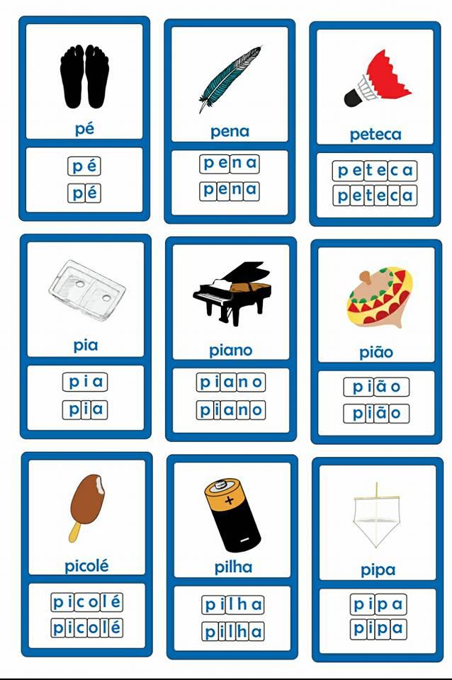 Alfabeto Silábico: Fichas para Imprimir